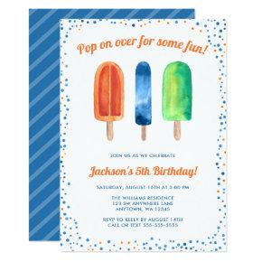 Watercolor Popsicle Boy Birthday Party