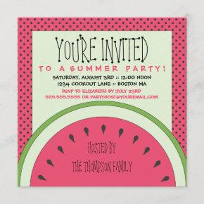 Watermelon Summer Party Invitation