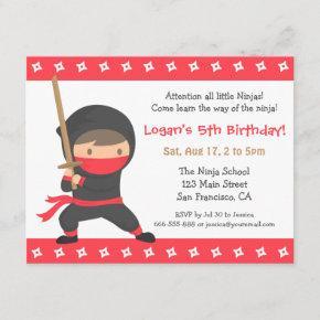 Way of the Ninja Kids Birthday Party
