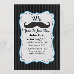 We Mustache You To Join Us Birthday Invitation! Invitation