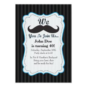 We Mustache You To Join Us Birthday Invitations! Invitations