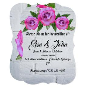 Wedding Blossoms Rose Romantic Destiny's Destiny Invitation