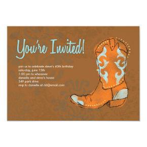 Western Cowboy Boot Invitation
