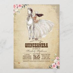 Western Quinceañera - 15th Birthday Invitation