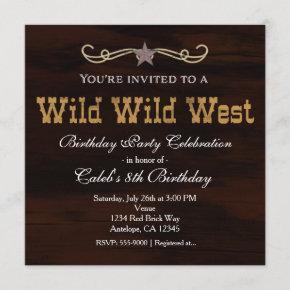 Western Star Country WILD WEST BIRTHDAY Invitation