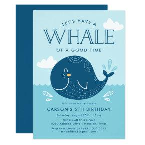 Whale of a Time | Birthday Party Invitation