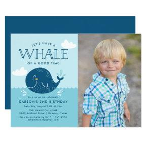 Whale of a Time | Photo Birthday Party Invitation