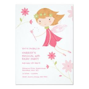 Whimsical Magical Fairy Birthday Invitations