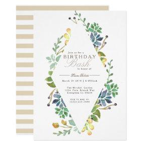 Whimsical Watercolor   Birthday Party Invite