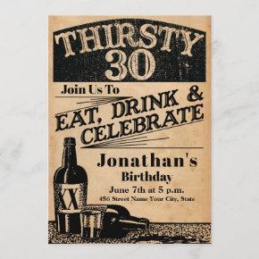 Whiskey 30th Birthday Invitation