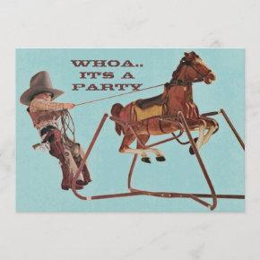 Whoa For Birthday Fun Western Cowboy