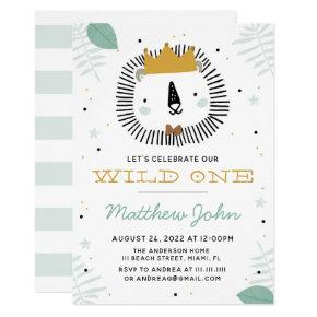 Wild Lion Birthday Party Invitation