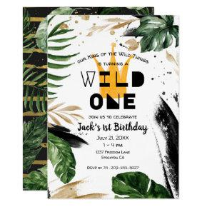 Wild One 1st Birthday   King of Things Crown Invitation
