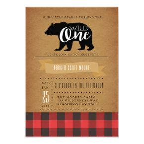 Wild One Bear | First Birthday Party Invite