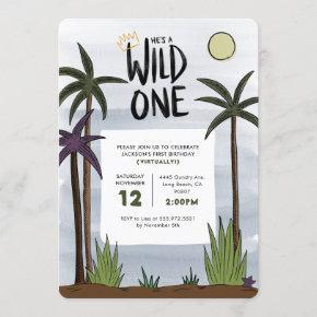 Wild One Birthday Invitation