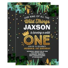 Wild One Birthday Invitation Wild Things Birthday