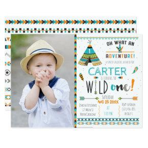 Wild One Boho Tribal Birthday Invitation