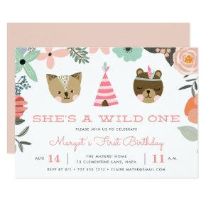 Wild One | First Birthday Party Invitation