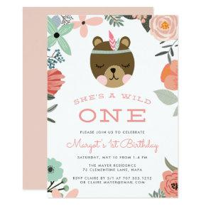 Wild One | First Birthday Party Invitations