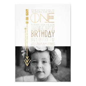 Wild One | First Birthday Party Invite Photo