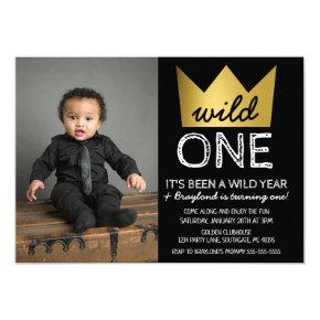 Wild One First Birthday Photo Invitation