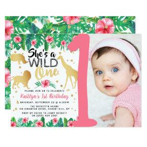 Wild One Girls Photo First Birthday