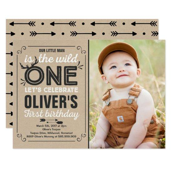 Wild One Invitation Boy Birthday Party