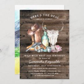 Wild West Cowboy Birthday Party Invitation