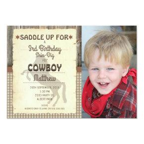 Wild West Horse Photo Birthday Party Invitations