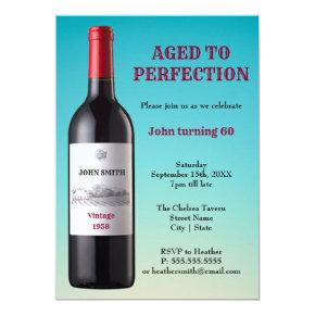 Wine Bottle Aged to Perfection | Invitation
