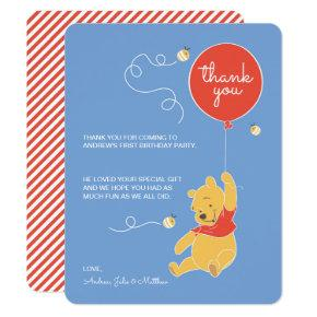 Winnie the Pooh | Baby Boy- Thank You Invitation