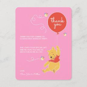 Winnie the Pooh   Baby Girl - Thank You