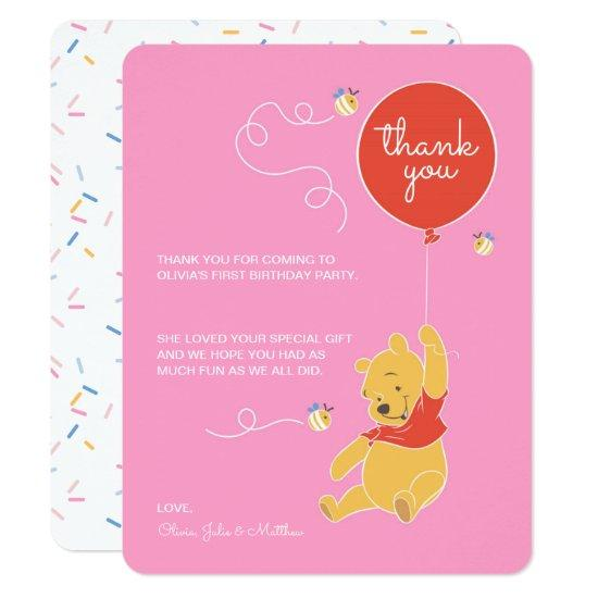 Winnie the Pooh | Baby Girl - Thank You Invitations