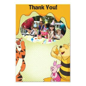 Winnie the Pooh Birthday Thank You Cards