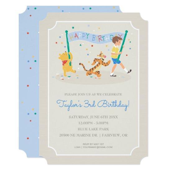 Winnie the Pooh   Happy Birthday Card