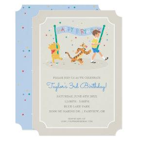 Winnie the Pooh | Happy Birthday Invitation