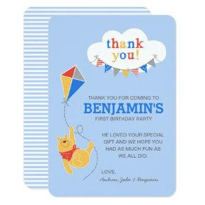 Winnie the Pooh Kite | Boy - Thank You Invitation