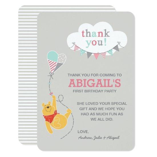 Winnie the Pooh Kite | Girl - Thank You Card
