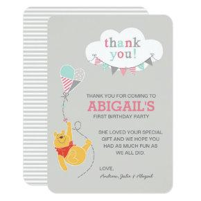 Winnie the Pooh Kite | Girl - Thank You Invitation