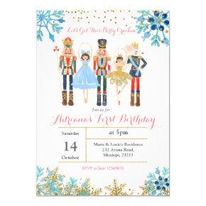 Winter Birthday Invitation Nutcracker