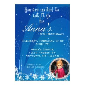 Winter Birthday Invitations with Picture