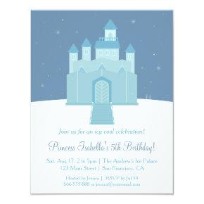 Winter Ice Frozen Palace Princess Birthday Party Card