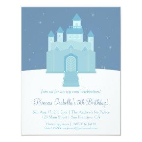 Winter Ice Frozen Palace Princess Birthday Party Invitations