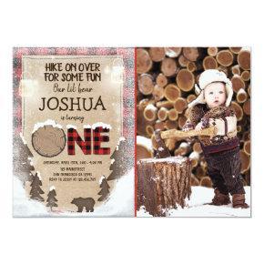 Winter Lumberjack Birthday Invitation Woodland