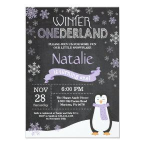 Winter Onederland 1st Birthday Invitation