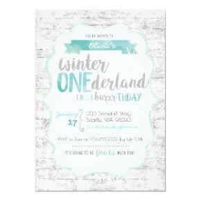 Winter Onederland First Birthday Invitation