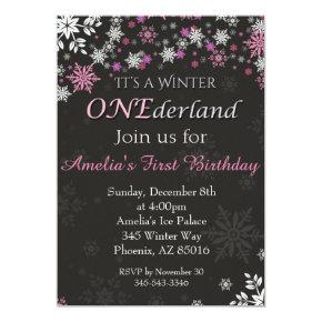 Winter ONEderland Invitation, First, 1st Birthday Invitation