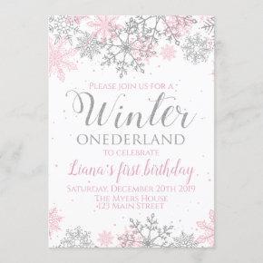 Winter Onederland Snowflake Invite