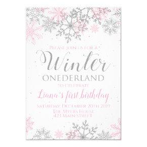 Winter Onederland Snowflake Invite