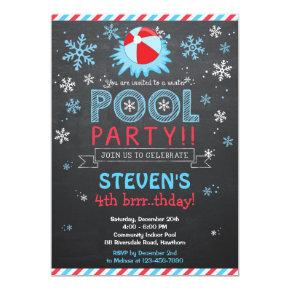 Winter Pool Invitations / Winter Pool Invite